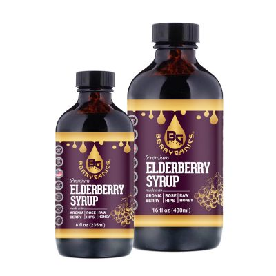 Organic Elderberry Syrup Honey